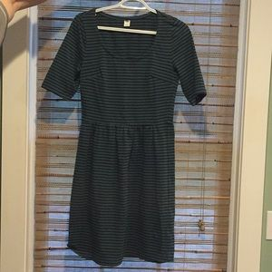 Green and black stripe Old Navy dress